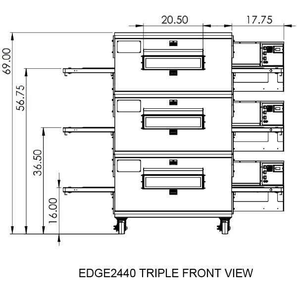 Edge 2440 Triple View