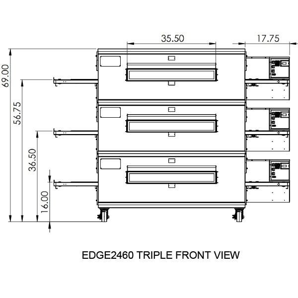 Edge 2460 Triple View